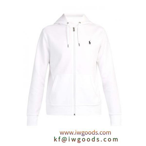 POLO  ロゴエンブロイダリー ジップスルー フースウェットシャツ iwgoods.com:6cm2yl