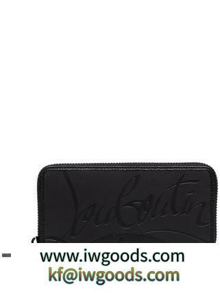 送料込! Christian Louboutin 偽物 ブランド 販売 Panettone logo 長財布 黒☆新作 iwgoods.com:ivythl-3