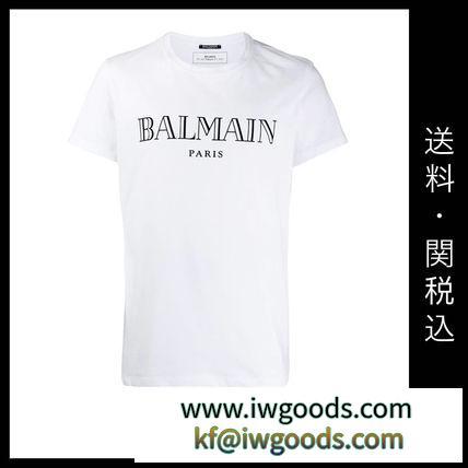 ■BALMAIN ブランド コピー 新作 ■ロゴ Tシャツ/ホワイト iwgoods.com:c2yvom-3