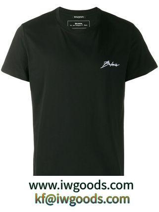 【関税負担】 BALMAIN ブランドコピー商品 T-shirt Logo Signature iwgoods.com:kqzwjr-3