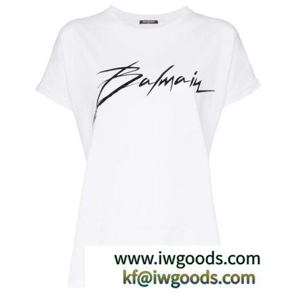 【SALE!】BALMAIN ブランド 偽物 通販/ロゴプリント Tシャツ ホワイト iwgoods.com:cfg2es-3