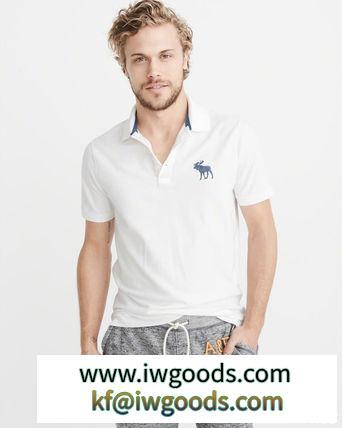 即発可!アバクロンビー ビックムース鹿の子ポロシャツ/White ブランドコピー商品 iwgoods.com:gb8y8g-3