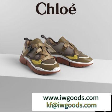 CHLOE ブランド 偽物 通販#SONNIE#ロートップスニーカー#22-28cm【Sooty Khaki】 iwgoods.com:um770j-3