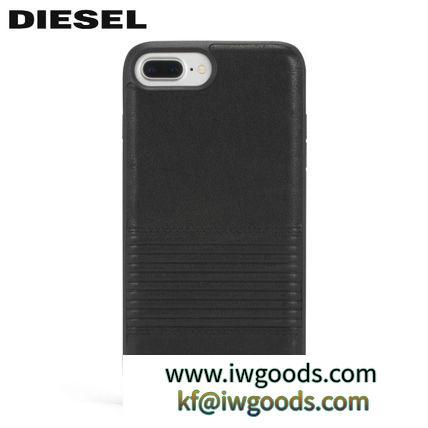 DIESEL スーパーコピー 代引 iPhoneX/8/7/6s/8+/7+ ディーゼル ブランド 偽物 通販 ブラック レザーケース iwgoods.com:5lg6lm-3