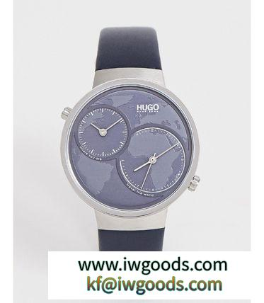 HUGO 腕時計 ☆★HUGO Travel leather watch 42mm iwgoods.com:nysdib-3