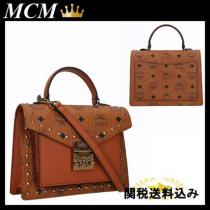 MCM コピー商品 通販 PATRICIA SMALL SATCHEL IN STUDDED OUTLINE iwgoods.com:zw6ki9