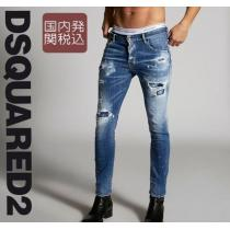 *DSQUARED2 激安スーパーコピー *Ripped White ブランドコピー商品 Spots Skater Jeans iwgoods.com:m7acr5-1