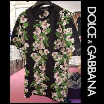 DOLCE&Gabbana ブランドコピー 19AW オーキッド柄 コットン 半袖 Tシャツ iwgoods.com:hvecky-1