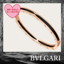 BVLGARI ブランド 偽物 通販 B.ZERO1 bangle bracelet 18kt rose gold black ceramic iwgoods.com:jydxta
