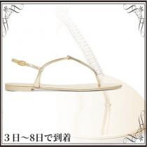 関税込◆Crystal-embellished metallic leather sandals iwgoods.com:g2sknm