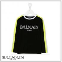 BALMAIN 激安スーパーコピー KIDS★LOGO PRINT COLOR-BL...