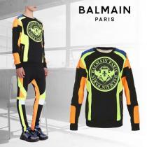 【BALMAIN ブランドコピー商品】グラフィックスウェットシャツメダリオンプリント iwgoods.com:4i5rns-1