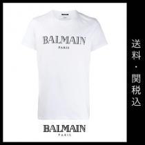 ■BALMAIN ブランド コピー 新作 ■ロゴ Tシャツ/ホワイト iwgoods.com:c2yvom-1