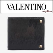 【国内発送】VALENTINO コピーブランド 財布 Green & Brown Rockstud Wallet iwgoods.com:yrt0pz