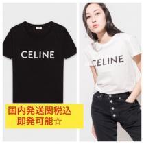 VIPセール☆CELINE 激安スーパーコピー ロゴ Tシャツ 送関込 iwgoods.com:68g77k-1