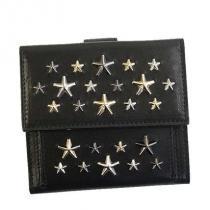 ジミーチュウ スーパーコピー 代引 二つ折り財布 FRIDA LTR 色:BLACK+METALLIC MIX iwgoods.com:pztx3z-1
