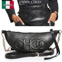 Jimmy CHOO 激安スーパーコピー FAYE Leather Belt Bag with EmBOSS 激安コピーed CHOO 激安スーパーコピー Logo iwgoods.com:rok5bx-1