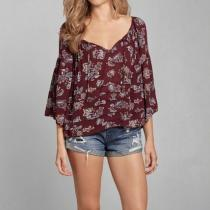 Bell Sleeve Peasant Blouse iwgoods.com:b1j...