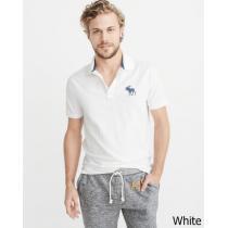 即発可!アバクロンビー ビックムース鹿の子ポロシャツ/White ブランドコピー商品 iwgoods.com:gb8y8g-1