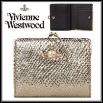 【新作】Vivienne WESTWOOD 激安スーパーコピー*ゴールド レザー折りたたみ財布 iwgoods.com:u39hzv-1