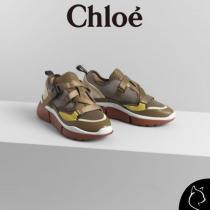 CHLOE ブランド 偽物 通販#SONNIE#ロートップスニーカー#22-28cm【Sooty Khaki】 iwgoods.com:um770j-1