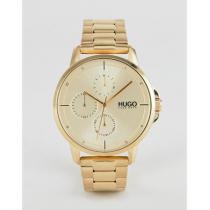 HUGO 腕時計 ☆★HUGO Focus bracelet strap watch in gold iwgoods.com:pnmnvu-1