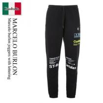 Marcelo Burlon 激安スーパーコピー joggers with lettering iwgoods.com:dw0cml
