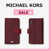 ◆MK◆SALE◆Color-Block Saffiano Leather Folio Case iPhone X iwgoods.com:09u3uv