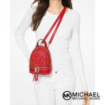 ★MK★セール★Rhea Mini Rose Studded Leather Bac...