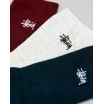 STUSSY ブランドコピー通販*ロゴ入りソックス*Graffiti Socks 3足組 iwgoods.com:z4i13u-1