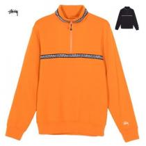 New!! STUSSY ブランド コピー Woven Tape Mock Neck フリース / Orange・Black iwgoods.com:r3ljke