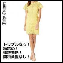 【追跡発送】Juicy COUTURE 激安スーパーコピー黄色半袖のオールレースドレス iwgoods.com:ma6jvc-1