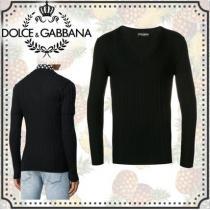 バージン ウール vネック《 Dolce & Gabbana スーパーコピー 》Vネック セーター iwgoods.com:3odp91-1