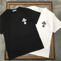 CHROME HEARTS 2色可選 かろやかなデザインを楽しめる 半袖Tシャツ クロムハーツ  最旬!大人っぽいコーデ iwgoods.com a8Xb4f-1
