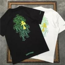 2色可選 トレンドの着こなしテク  CHROME HEARTS どんなスタイルにも合わせやすい 半袖Tシャツ クロムハーツ iwgoods.com q0DWry-1