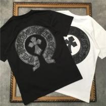 2色可選 シンプルコーデを今年らしくアップ 半袖Tシャツ 着回し力抜群 クロムハーツ CHROME HEARTS iwgoods.com 1vSrie-1