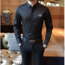 大人遊び心たっぷり エルメス シャツ メンズ HERMES スーパーコピー 3色可選 ストリート ロゴ 通勤通学 日常 セール iwgoods.com XjGHLb-1