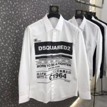 D SQUARED2 シャツ 新作 品よく着こなせる限定品 メンズ ディースクエアード コピー ホワイト カジュアル ロゴ入り 激安 iwgoods.com aC4rye-1