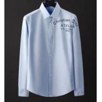 シャツ 限定 DIOR デザイン性の高さで大活躍 メンズ ディオール コピー ブルー ホワイト トレンド ブランド 品質保証 iwgoods.com 9PH1XD-1