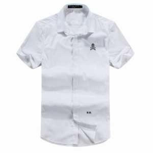 2019春夏 ロゴ付き PHILIPP PLEIN フィリッププレイン 半袖シャツ 多色