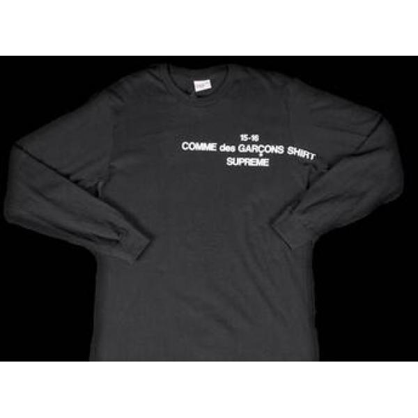 耐久性を誇るシュプリーム ×コムデギャルソン 夏に欠かさないTシャツ ブラック.