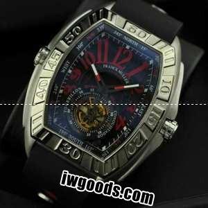 best website 215f3 112f5 FRANCK MULLER フランクミュラー メンズ腕時計 自動巻き 2針 Tourbillon 夜光効果 50.20X43.20mm シルバー