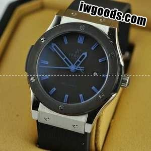 purchase cheap b1330 6bdb0 Hublotウブロ メンズ腕時計 自動巻き 3針クロノグラフ 日付表示 ラバー 44MM ブラック