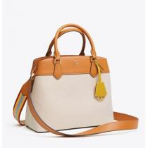 Tory Burch ブランド 偽物 通販 ROBINSON CANVAS TRIPLE-COMPARTMENT TOTE iwgoods.com:a2iskq